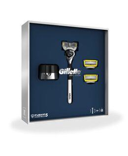 Gillette Fusion5 Proshield Gift Pack with a Razor, Blade Refill 3 Pack and Stand