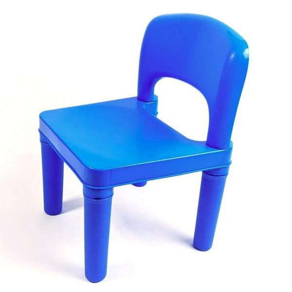 Kids Chair for Build Blocks LEGO Play Table in Blue