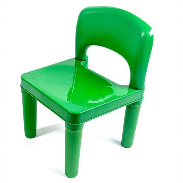 Kids Chair for Build Blocks LEGO Play Table in Green