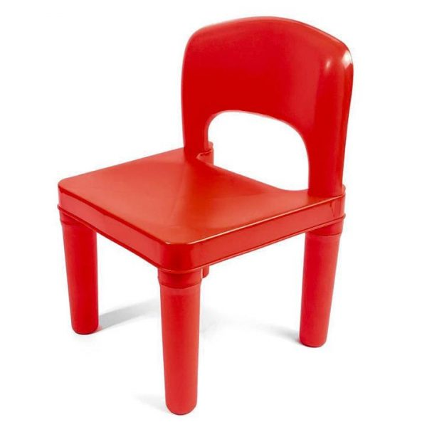 Kids Chair for Build Blocks LEGO Play Table in Red