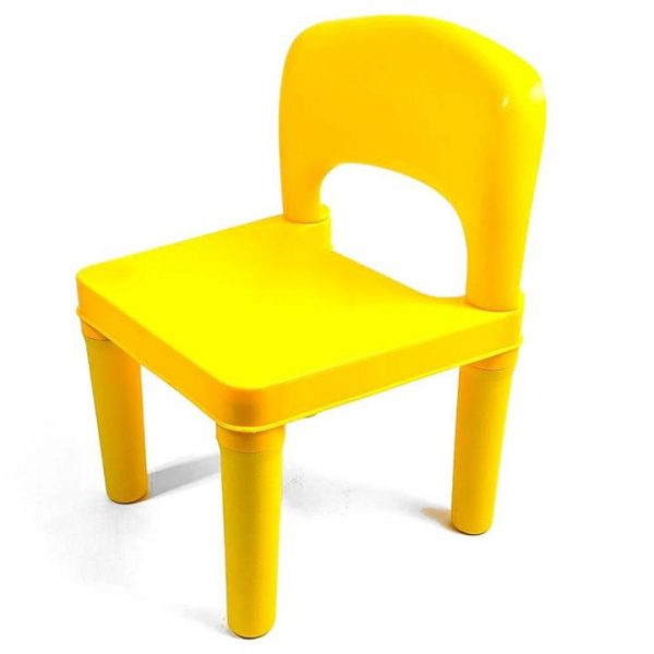 Kids Chair for Build Blocks LEGO Play Table in Yellow